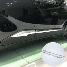 Для Toyota C-HR ЧР 2016 2017 автомобиля отделка кузова, молдинг на боковые двери ABS хромированные аксессуары 4P авто аксессуар Идеальная замена