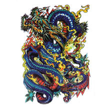 Waterproof Large Temporary Tattoo Stickers Men Arm Leg Fake Transfer Tattoo Dragon Lion Sexy Products High Quality(China)