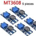 5 шт. MT 3608 Питание модуль DC-DC Step Up усилитель конвертера для Arduino Boost повышающий доска Макс выход 28В 2A