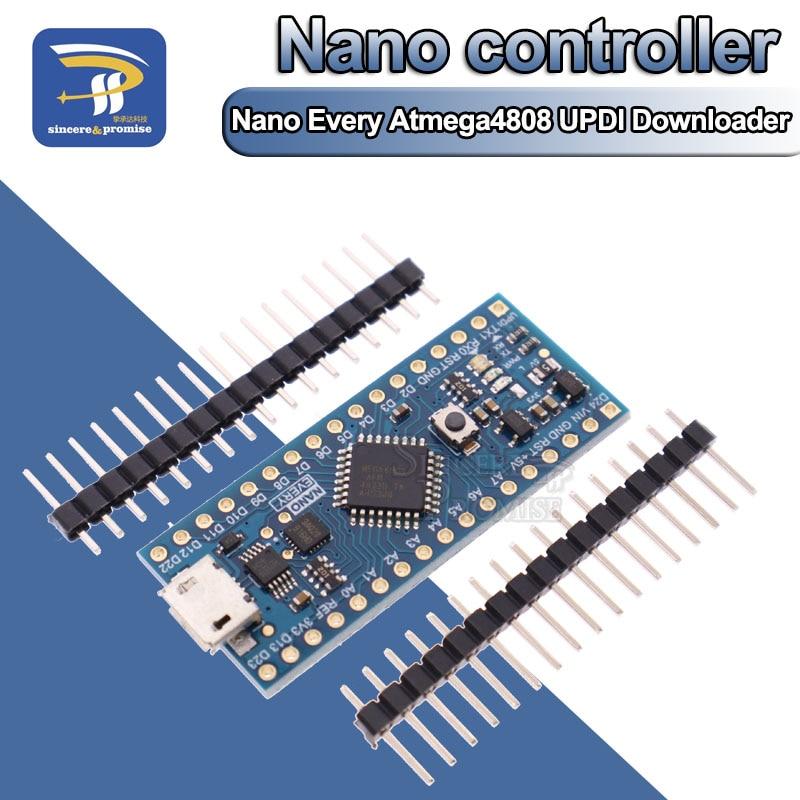 Новое поступление Nano контроллер совместим с Arduino Nano Every Atmega4808 обновленный Atmega328 CH340 UPDI Downloader