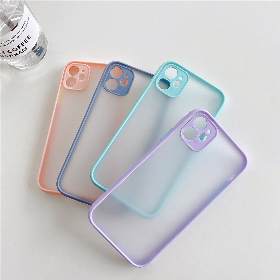 Qianliyao Simple Matte Transparent Phone <font><b>Case</b></font> for <font><b>iPhone</b></font> 11 Pro <font><b>X</b></font> XR <font><b>XS</b></font> Max 8 7 Plus SE <font><b>Cases</b></font> Soft Silicone Frame Hard PC Cover image