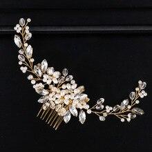 Ручной работы Свадебный гребень для волос, ювелирные изделия, свадебные аксессуары для волос, Головные уборы повязки для волос дропшиппинг