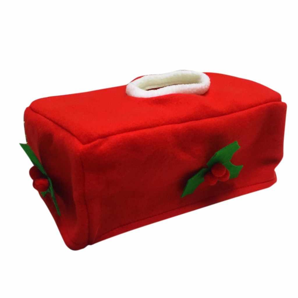Рождественская коробка для салфеток, чехлы, украшения, Домашняя вечеринка, Санта Клаус, полотенце, коробки, посуда, держатель, милый дизайн, украшение для праздника, 23