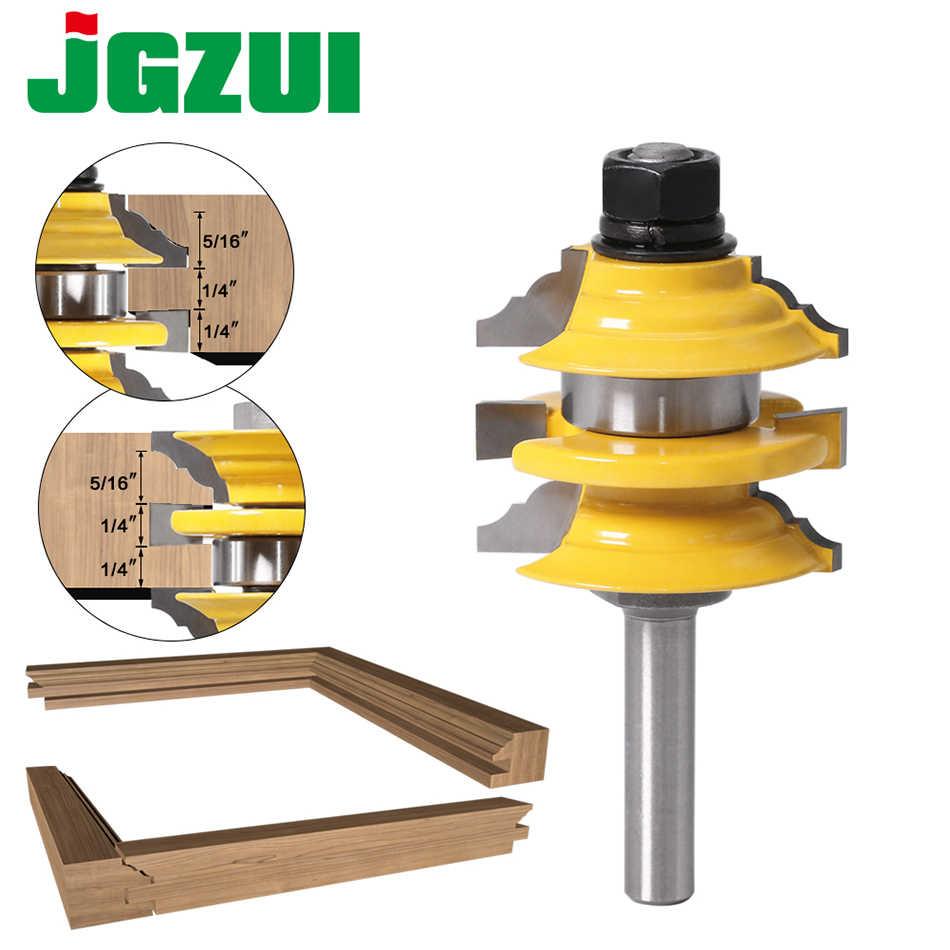Cutting Edge Length : 8X6.35X19.5 Jiaqi-milling 6mm 8mm Diameter Panel Pilot Trim Router Bit 8mm Shank,