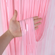 2M 3M Wedding Backdrop Stand Birthday Party Decorations Adult Mariage Foil Fringe Window Door Curtain Tinsel Drapes Candy Color