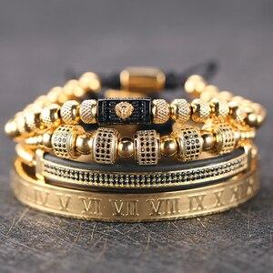 luxury Gold Bracelet Men Crown