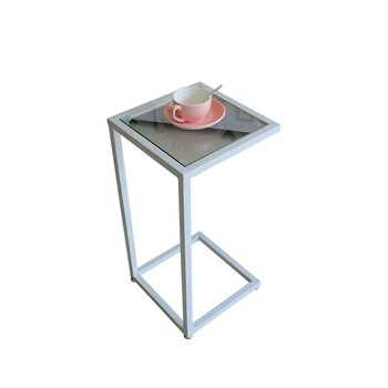 Some corners of Nordic golden sofa modern simple toughened glass small tea table mobile sofa side table bedside table