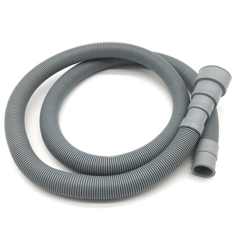 1Pcs 2M/3M PVC Washing Machine Dishwasher Drain Waste Hose Extension Pipe With Bracket Set Wash Machine Ablaufschlauch
