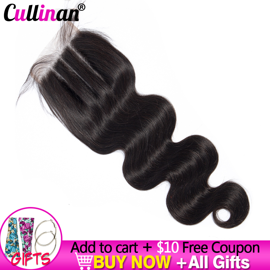 4x4 Body Wave Lace Closure Free/Middle/Three Part Swiss Lace Medium Brown Lace Closures Cullinan Remy Brazilian Natural Hair