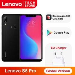 Перейти на Алиэкспресс и купить global version lenovo s5 pro smartphone 6gb 128gb snapdragon 636 octa core 20mp quad cameras 3500 mah 6.2 inch 4g lte phones