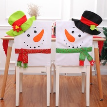 Christmas furniture decoration senior flannelette New Year snowman couple chair cover household items decorations