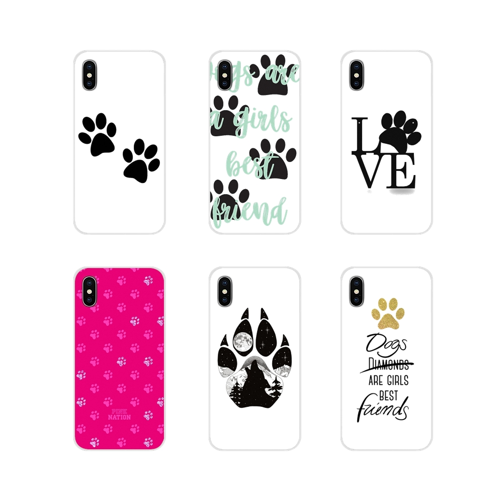 For Samsung A10 A30 A40 A50 A60 A70 M30 Galaxy Note 2 3 4 5 8 9 10 PLUS Phone Case Protector Dogs are girls best friends Dog paw image