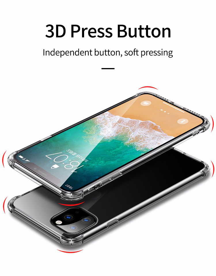 Shockproof Bumper Clear Silicone Case for iPhone 11/11 Pro/11 Pro Max 4