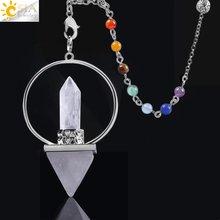 Чакральные маятники csja reiki healing 7 для дюбеля шестиугольная