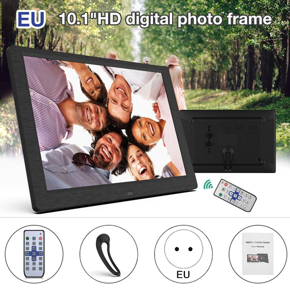 New 10 Inch Screen LED Backlight HD 1280x800 Digital Photo Frame Electronic Album Picture Music Movie Full Function Good Gift image