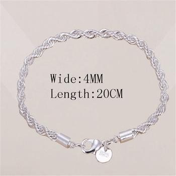 SUMENG New Arrival gorąca sprzedaż 4mm srebrna pozłacana biżuteria bransoletka grzywny modna bransoletka najwyższej jakości sprzedaż hurtowa i detaliczna dla kobiet tanie i dobre opinie Chain link bransoletki Kobiety Ze stopu miedzi Tybetańskie srebrne CN (pochodzenie) moda TRENDY Metal łańcuszek Zgodna ze wszystkimi