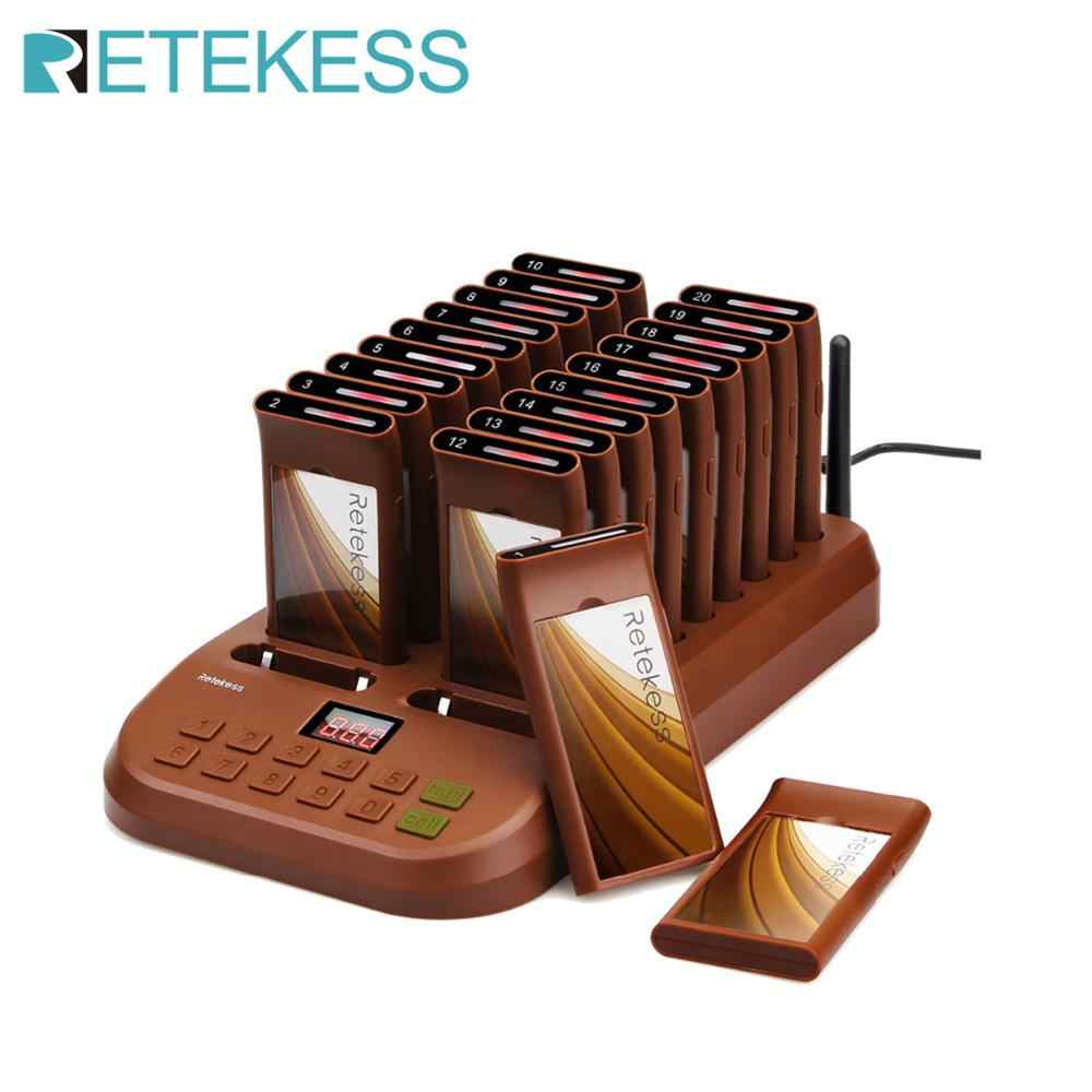Retekess T116 Wireless Paging Queuing System Restaurant Pager support 999 calling receiver for waiter pagers for restaurant cafe