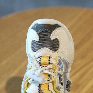 Image 5 - DIMI 2019 秋幼児ガールボーイ靴通気性のベビースニーカーファッションカラーマッチングソフト底幼児の靴