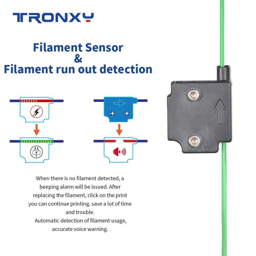 Tronxy X5SA 3D Printer WIth Metal Build Plate And Filament Sensor