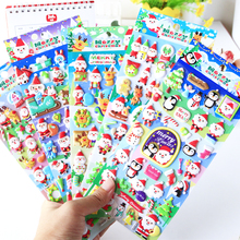 1pcs Christmas Santa Claus Elk 3D Stickers Cartoon Foam Scrapbooking Decorative Sticker Label Diary Stationery Album Stickers