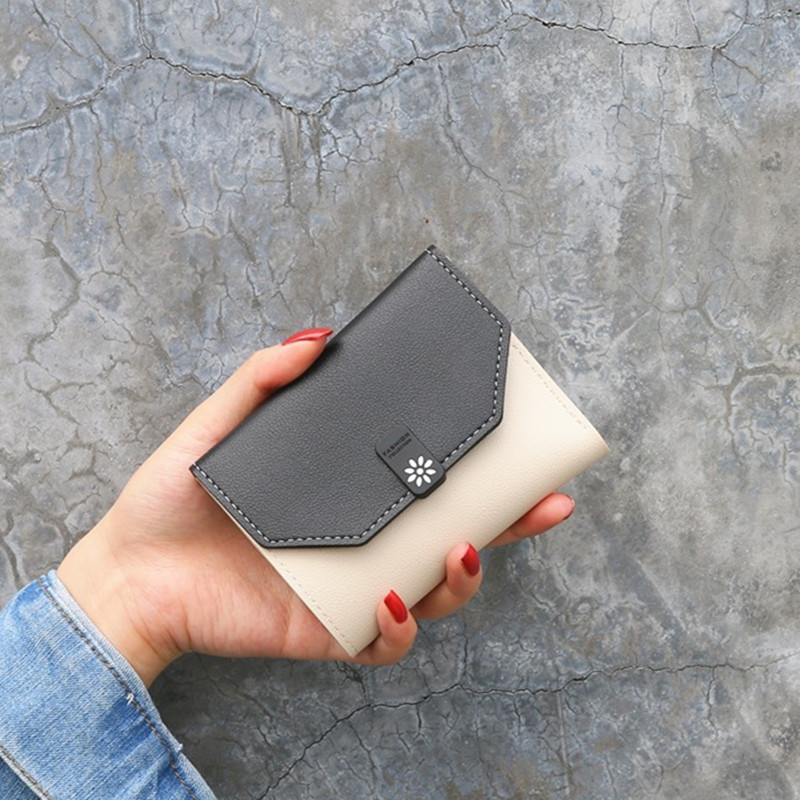 2020 Women Short Wallets PU Leather Female Purses Card Holder Wallet Fashion Woman Small Zipper Wallet With Coin Purse Wholesale