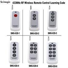 Afstandsbediening Schakelaar Rf Zender Wireless Key Voor Smart Home Garagedeuropener Hot 433Mhz 4 Knop EV1527 Code