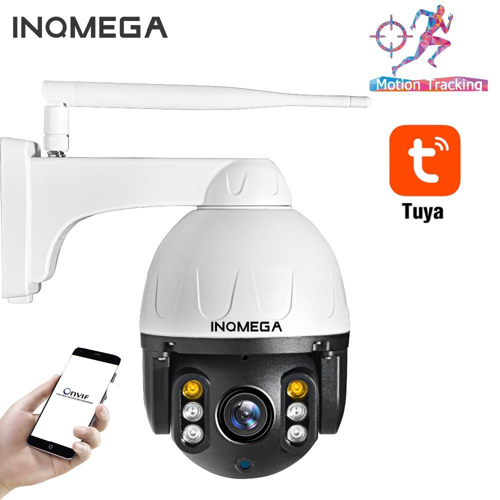 INQMEGA 1080P Tuya PTZ IP Camera Auto Tracking Outdoor Waterproof Home Security Camera Mini Speed Dome Camera
