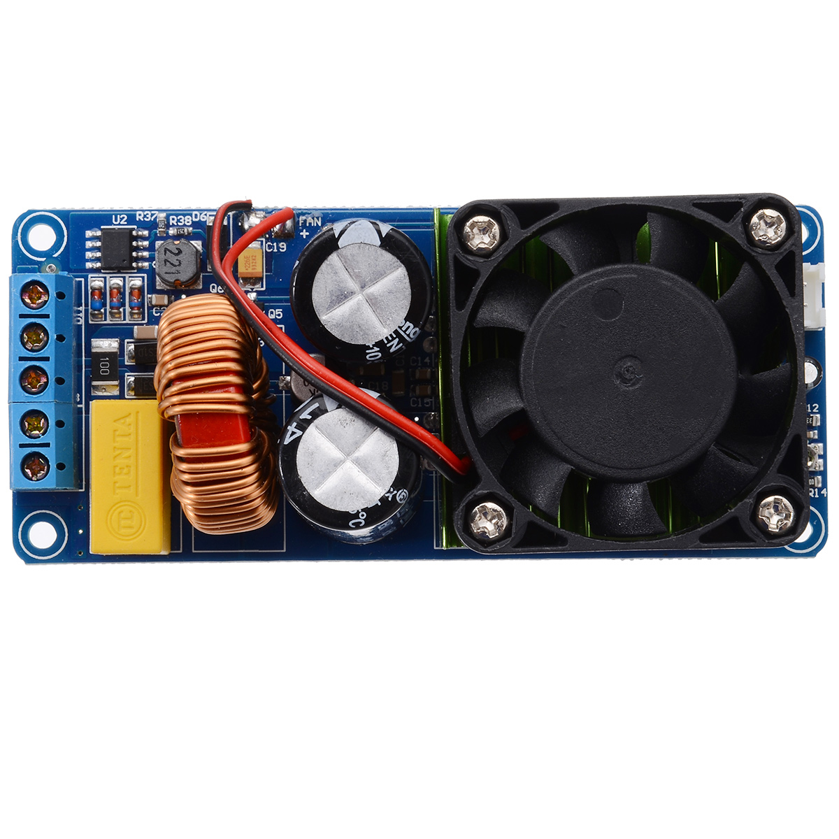 Image 4 - New IRS2092S Mono Channel Digital Amplifier Module 20Hz 20KHz Class D HIFI Power Amp Board With Fan 500W-in Amplifier from Consumer Electronics
