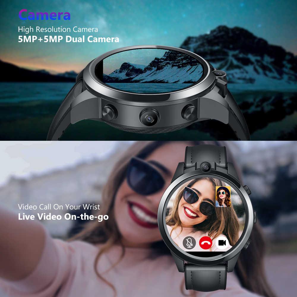 Nouveau phare Zeblaze THOR 5 PRO lunette en céramique 3GB + 32GB double caméra 800mAh GPS montres bracelets en cuir montre intelligente pour IOS Android