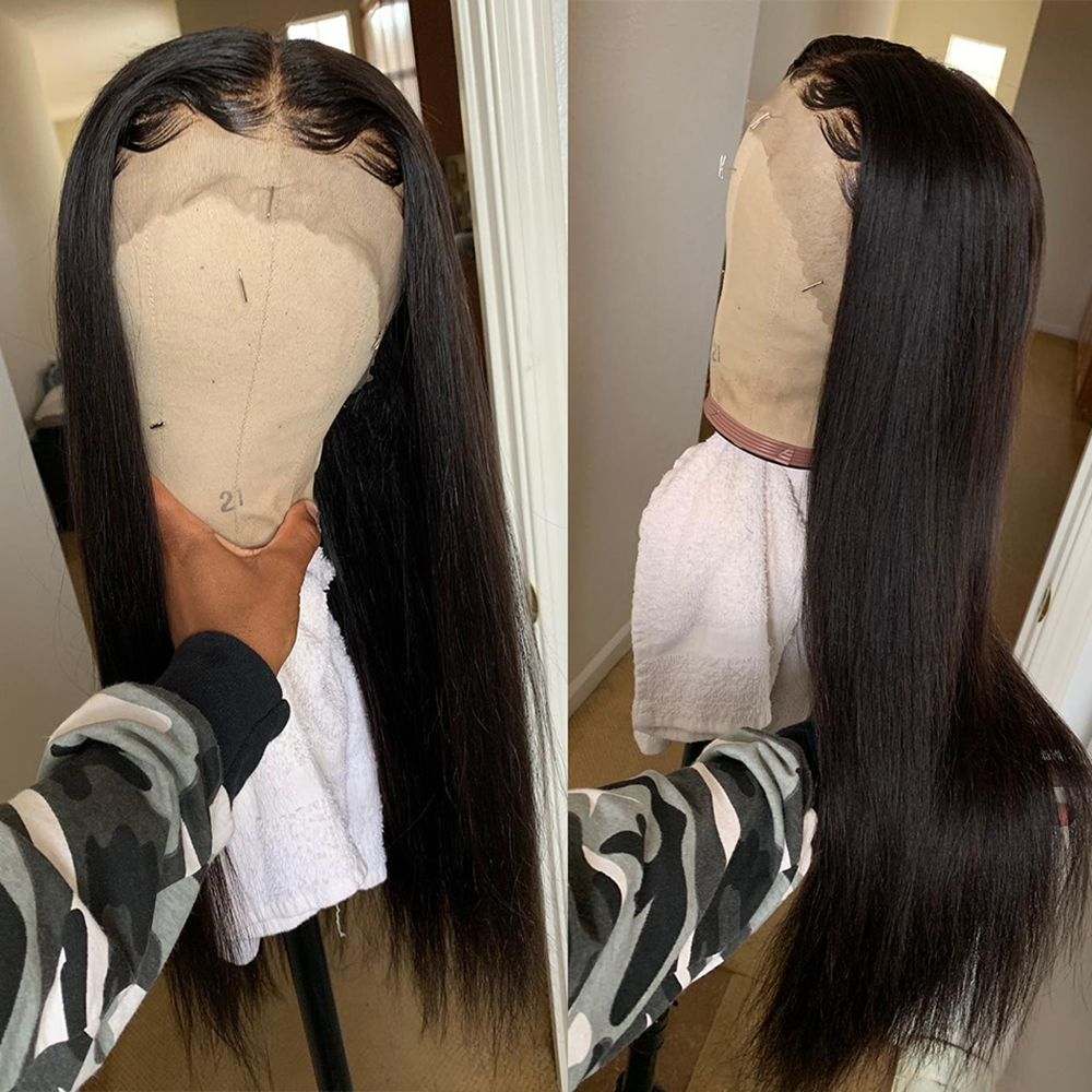 YYONG 4X4 & 13x4 Lace Front  Wigs    Straight  Lace Closure Wig Baby Hair 30inch 130% 3