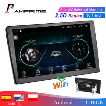 "AMPrime 10.1"" Car Multimedia Player 2 din Android Car Stereo Radio Bluetooth WIFI Audio Mirrorlink MP5 Player con cámara trasera"