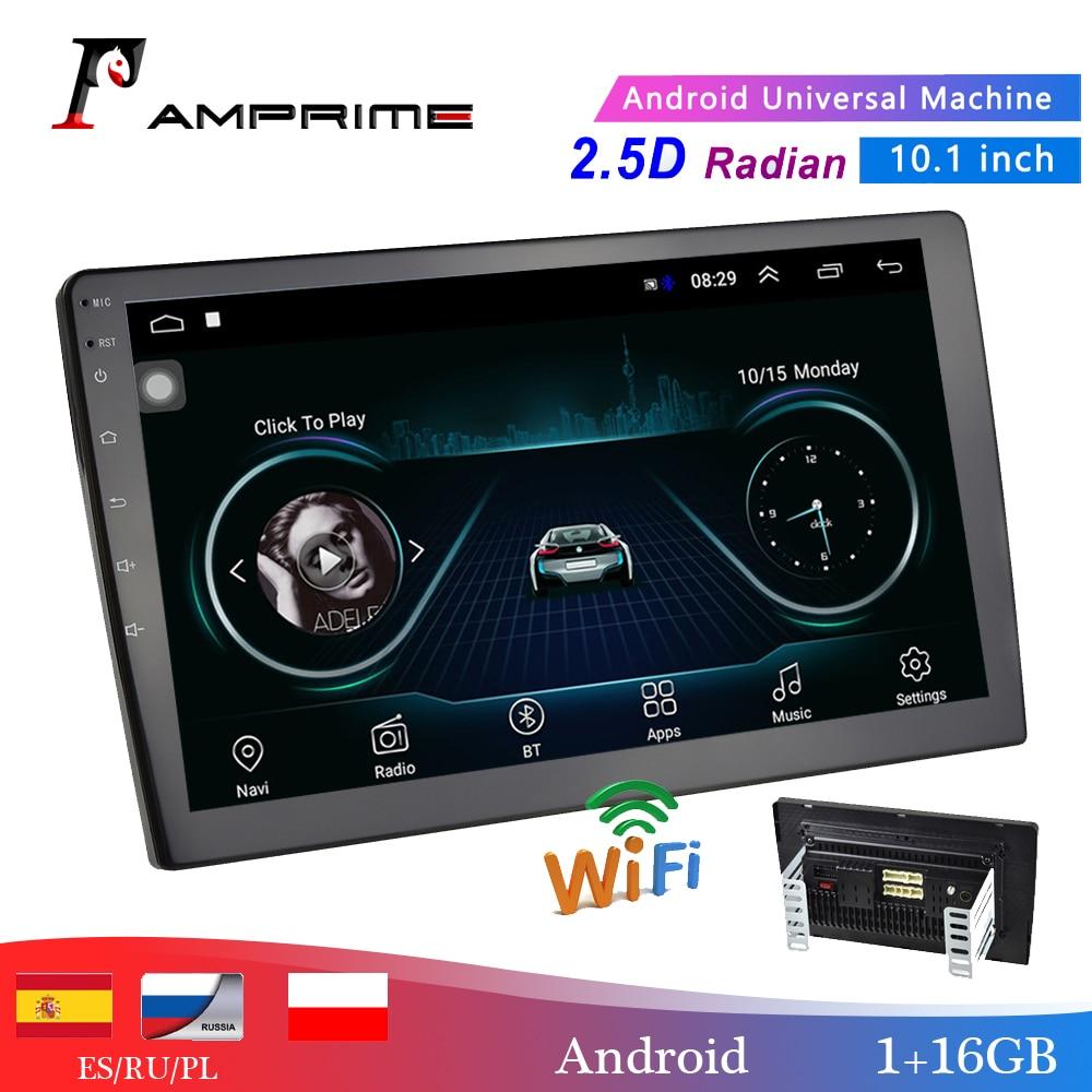 Lecteur multimédia de voiture AMPrime 10.1 2 din Android autoradio Bluetooth WIFI Audio Mirrorlink MP5 lecteur avec caméra arrière