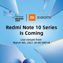[Estreno mundial] Xiaomi Redmi Note 10 Series Versión global Smartphone 108MP Cámara 120Hz