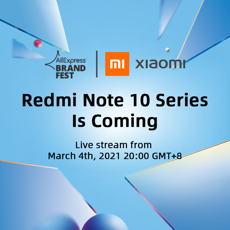 [Estreia mundial] Xiaomi Redmi Note 10 Series Versão global SmartPhone 108MP Câmera 120Hz