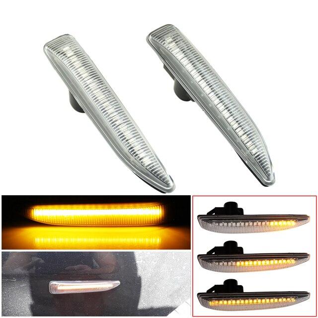 الجانب ماركر مصابيح لسيارة BMW E65 E66 E67 2001 2008 LED بدوره مصباح إشارة مؤشر مكرر متتابعة الوامض