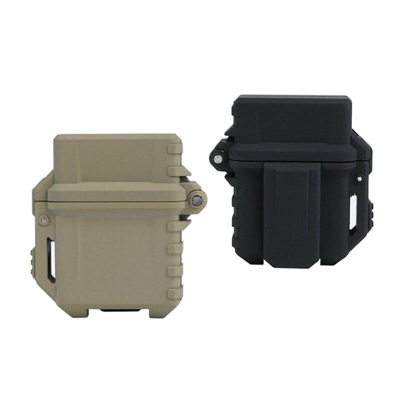 Taktische Leichter Lagerung Fall Universal Tragbare Box Container Organizer Halter Leichter Inneren Tank Fall Für Zippo Outdoor-tool