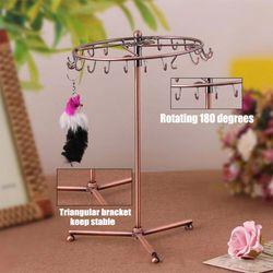 Vintage Pendant Scarf Jewelry Display Rack Rotatable Necklace Headband Bracelet Rings Stand Holder 23 Hooks