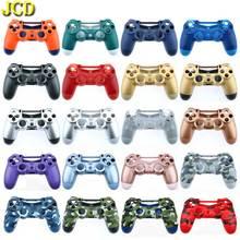 JCD 1PCS עבור PS4 פרו בקר JDS040 JDS 040 קדמי חזרה כיסוי פלסטיק קשיח שיכון Shell Case עבור Dualshock 4 slim Gamepad