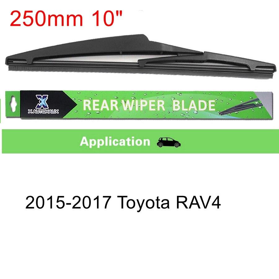 """X AUTOHAUX """" 8"""" """" 10"""" универсальная щетка стеклоочистителя заднего стекла для Suzuki Toyota RAV4 Nissan hyundai Citroen Lexus - Цвет: 250mm"""