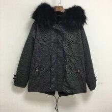 Волшебная градиентная оболочка парка Мужская короткая отражающая куртка с черной мягкой подкладкой из меха енота пальто с воротником