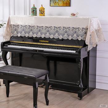 Europejski haftowane narzuta na pianino złota aksamitna obrus osłona pyłoszczelna 90*220cm ręcznik koronki kwiat FH2051 tanie i dobre opinie CN (pochodzenie) FH2052-1 Europa 100 poliester