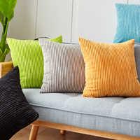 Capa de almofada de veludo 45x45cm para sala de estar sofá veludo almofadas decorativas nordic casa decoração housse de coussin