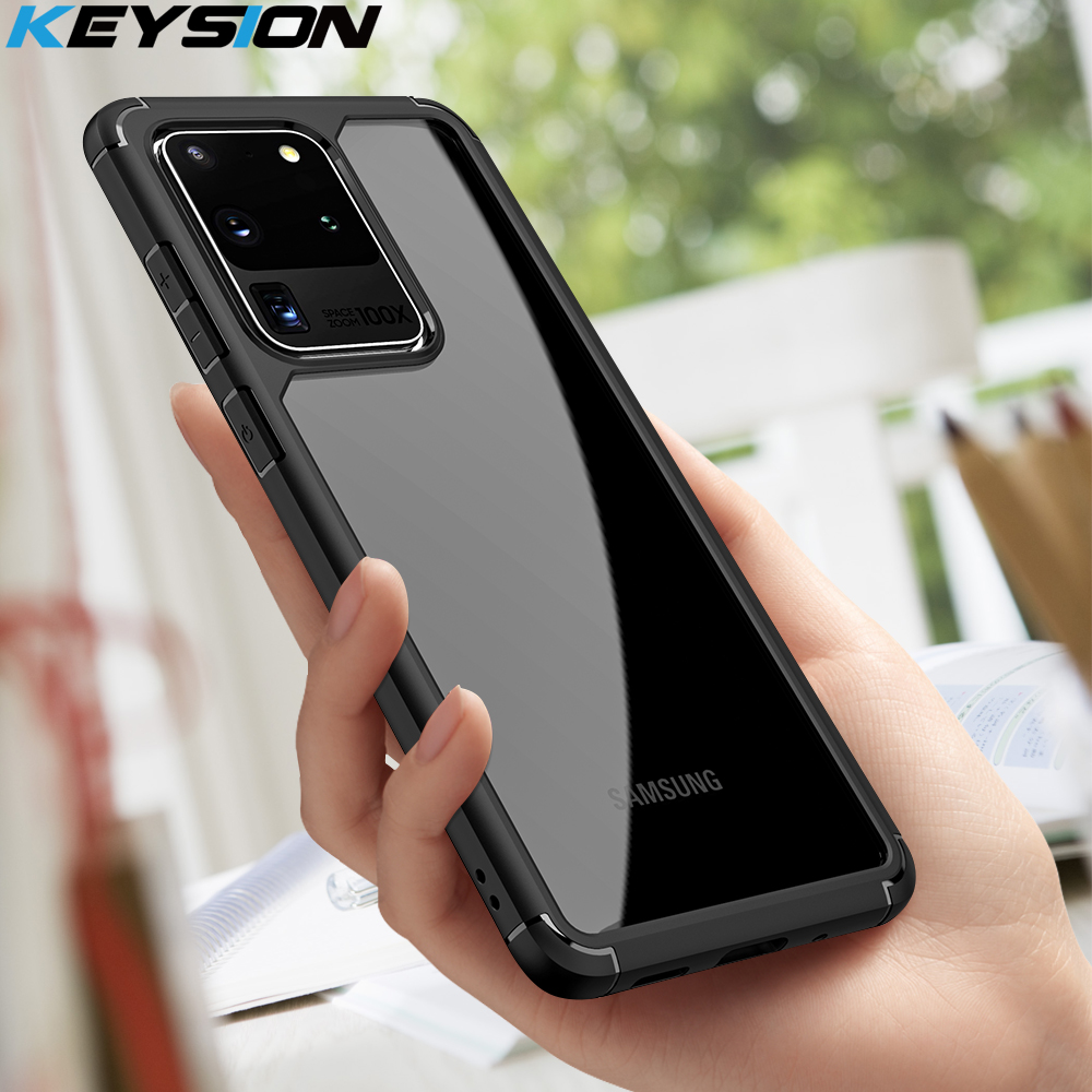 KEYSION Fashion Shockproof Case For Samsung Galaxy S20 S20 Plus S20 Ultra Transparent Silicone Phone Back Cover For Samsung S20+