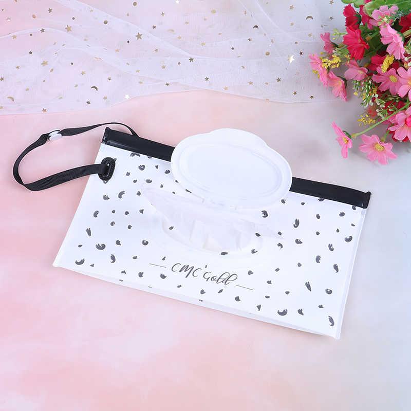 Nowe dziecko dzieci wytrzeć sprzęgła torba do przenoszenia chusteczki nawilżane dozownik na zatrzaski torba etui na zewnątrz podróży mokry ręcznik papierowy pojemnik