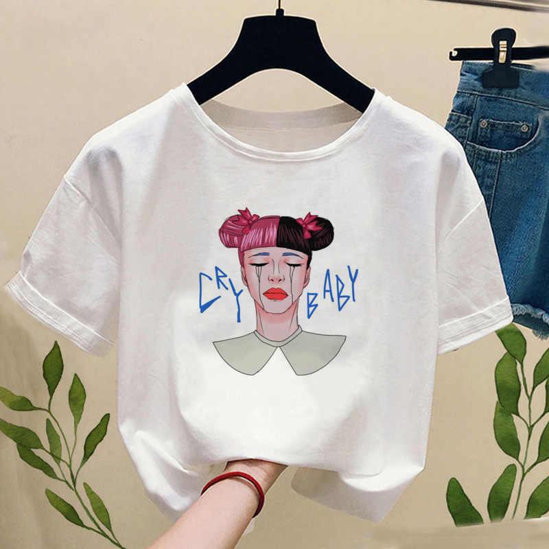 夏かわいい女tシャツメラニーマルティネス漫画の画像プリントtシャツ原宿かわいいファッション女性の半袖tシャツ