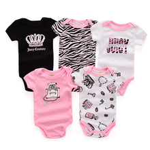 Ircomll 5PCS/Set Summer Baby Boy Girl Clothes Baby Cute Cotton Bodysuits for Newborns Overalls and Jumpsuits Toddler Clothing