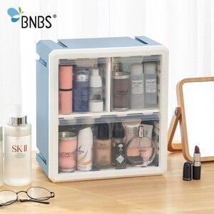 Image 3 - BNBS Kunststoff Lagerung Box Kosmetik Organizer Desktop Multi schicht Schublade Fall Werkzeuge Perle Ringe Schmuck Make Up Veranstalter