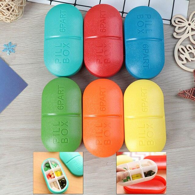 4/6 Slots Moisture-proof  Travel Pill Box Organizer Tablet Medicine Storage Dispenser Holder Health Care Tool 1
