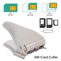 Mini cortador de micro-SIM 3 en 1 de aleación de Zinc, acero inoxidable, herramientas de modificación Manual duraderas para teléfonos móviles