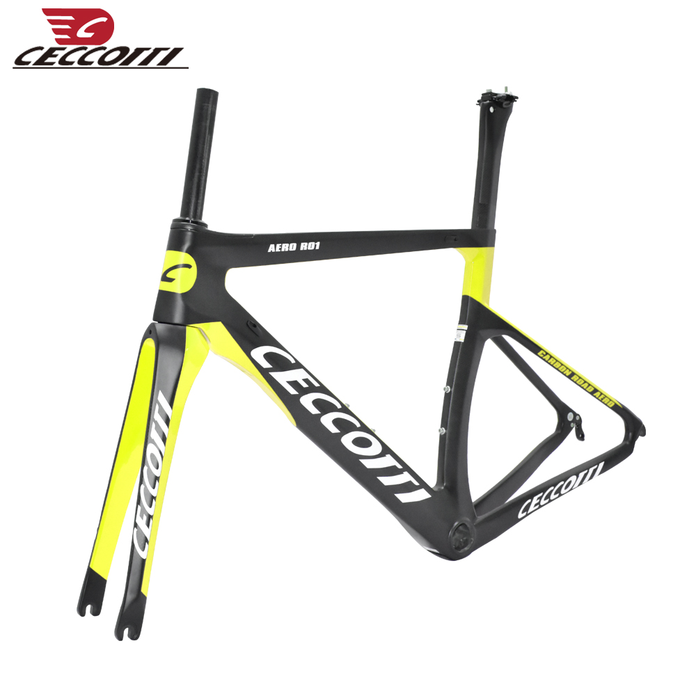 Carbon bike frame carbon raod frame newset CECCOTTI Brand red chinese carbon frames cyclocross weave 1k/3k/ud cadre velo RF13